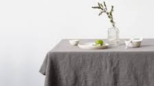 Gray Linen tablecloth 55x90