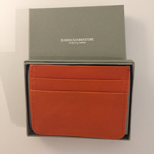 Slim Leather Wallet Orange
