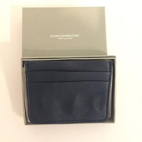Slim Leather Wallet Navy