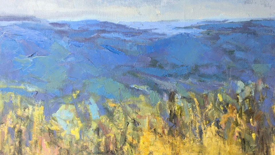 Early Spring, Blue Ridge Mountains by Priscilla Long Whitlock 20x20