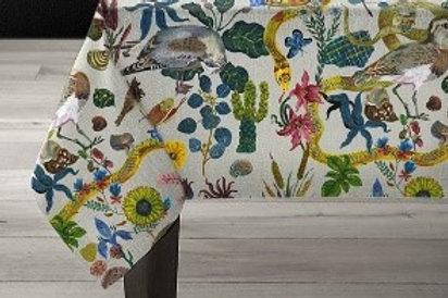 """70x78 inches Avenida Home Linen tablecloth """"Birds in the Dunes"""""""