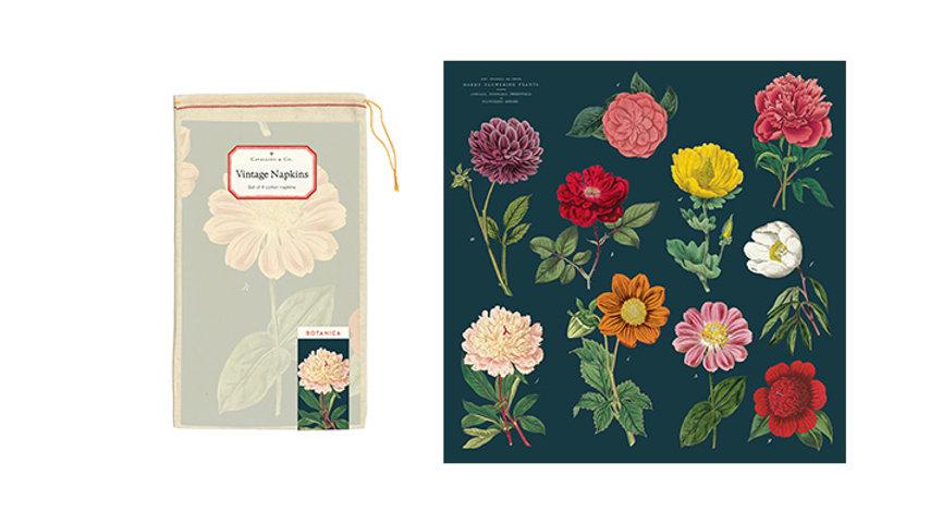 Vintage Botanicals Napkins Set of 4