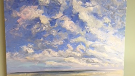 Waves, Light, Moving Clouds by Priscilla Long Whitlock 30x30