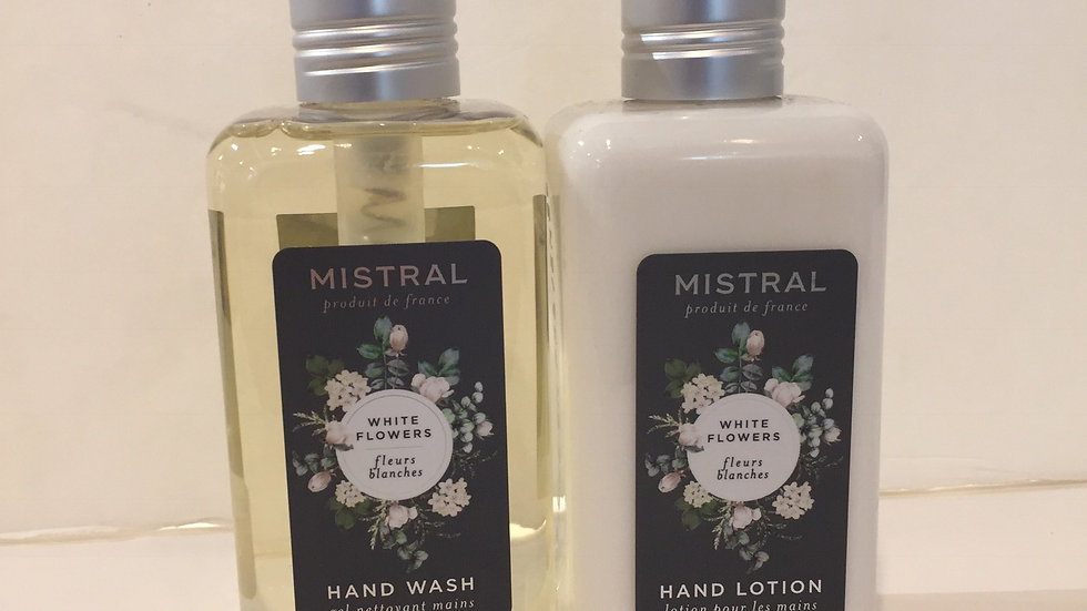Hand Wash & Hand Lotion Duo in White Flowers