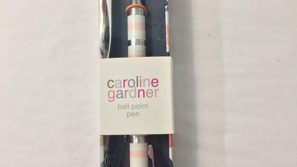 Caroline Gardner Striped Ballpoint Pen