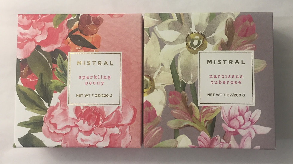 Duo of Spring Soaps from Mistral: Sparkling Peony and Narcissus Tuberose