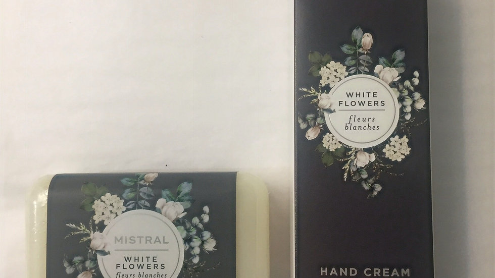 Mistral White Flowers Classic Bar Soap and Hand Cream