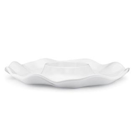 Melamine Ruffle Chip and Dip