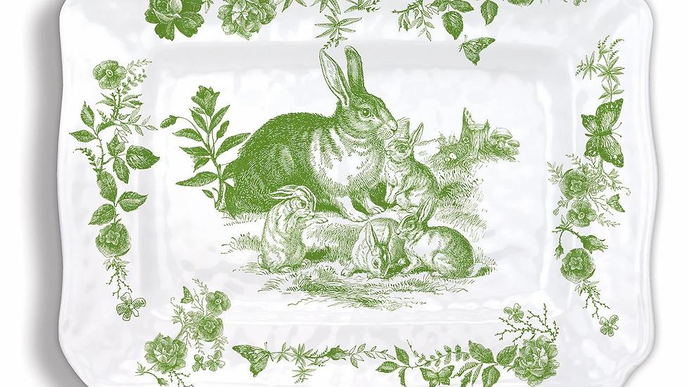 Melamine Bunny Platter