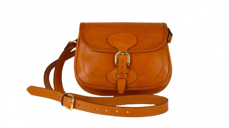 Leather Buckle Cross Body Bag