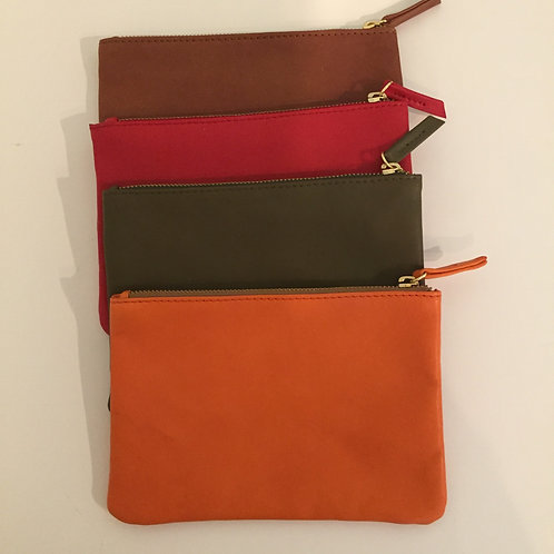 Leather Clutch/Make-up Case