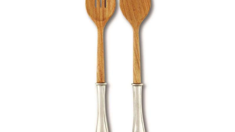 Wales Pewter Salad Servers