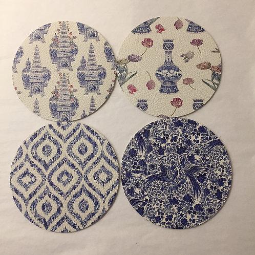 Nicolette Mayer Blue Coasters - set of 4