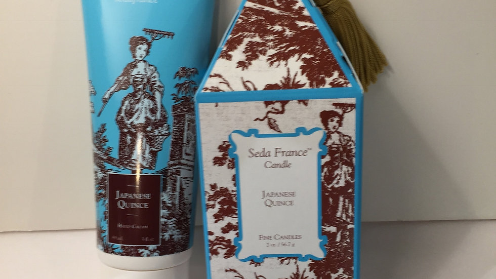 Seda France Japanes Quince Gift Duo of Hand Cream and Mini Pagoda