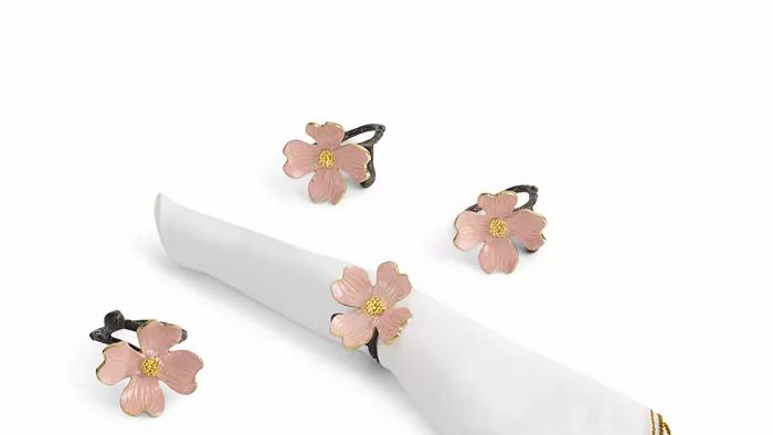 Michael Aram Pink Dogwood Napkin Rings