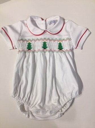 Smocked Pima Cotton Bubble for Baby Boy 6-9month