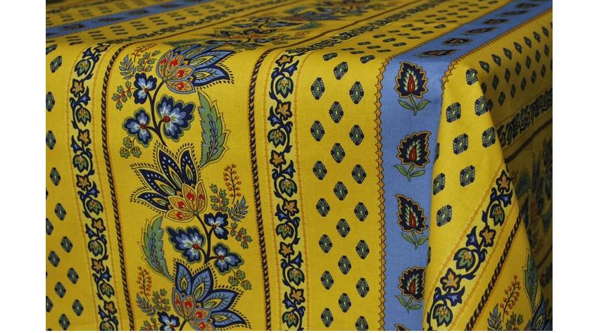 Lisa Yellow  Coated Rectangle Tablecloth 60x96