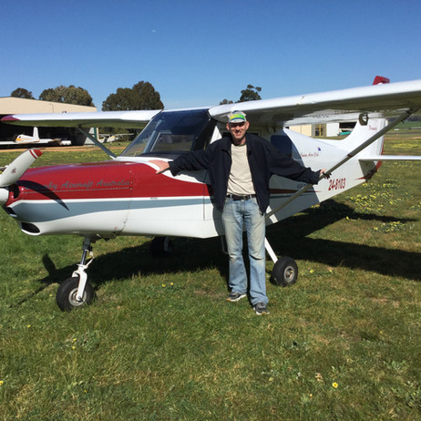 Congratulations to Glen for his splendid first solo last Friday!
