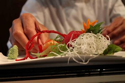 Sashimi plate preparation Sushi Main Street