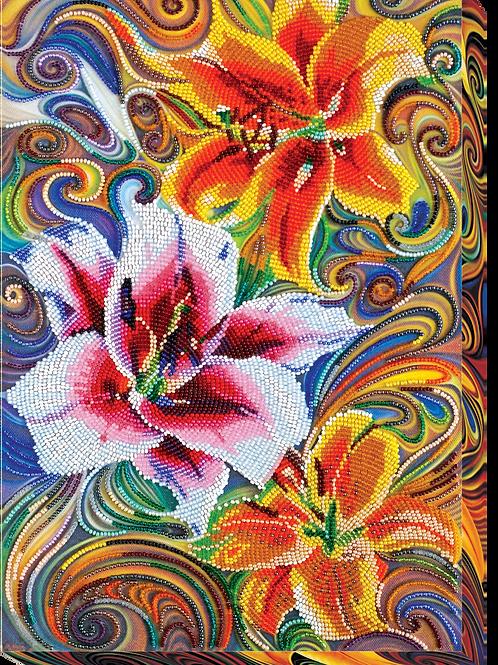 Lilies Abris Art embroidery kit