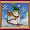 Snowman-2 Abris Art embroidery kit