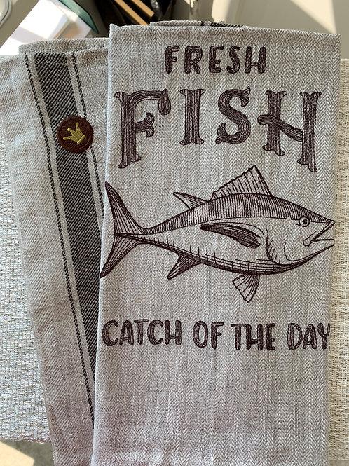 Kitchen Towel - Seafood Market