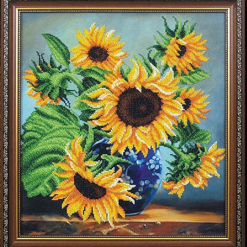 Sunflowers in a Blue Vase - Magia Kanvi, Ukraine