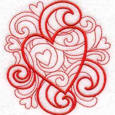 kitchen towel romantic heart