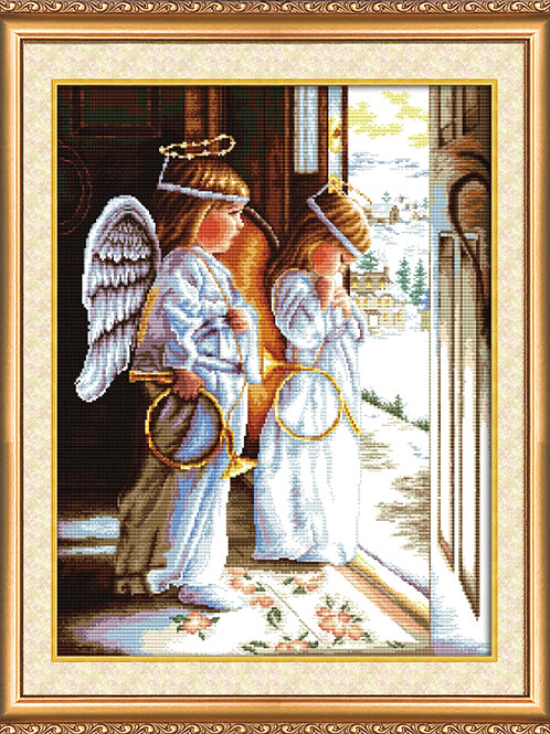 Angels, Abris Art, cross-stitch kit