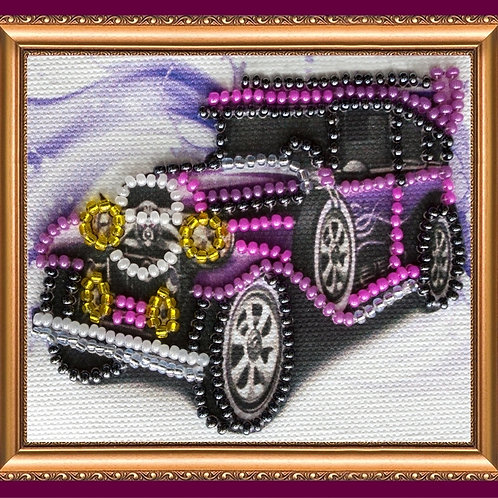 Retro Car Abris Art embroidery kit