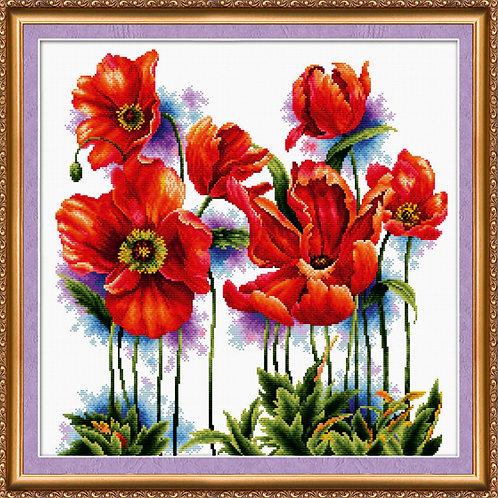 Scarlet Poppys Abris Art cross-stitch kit