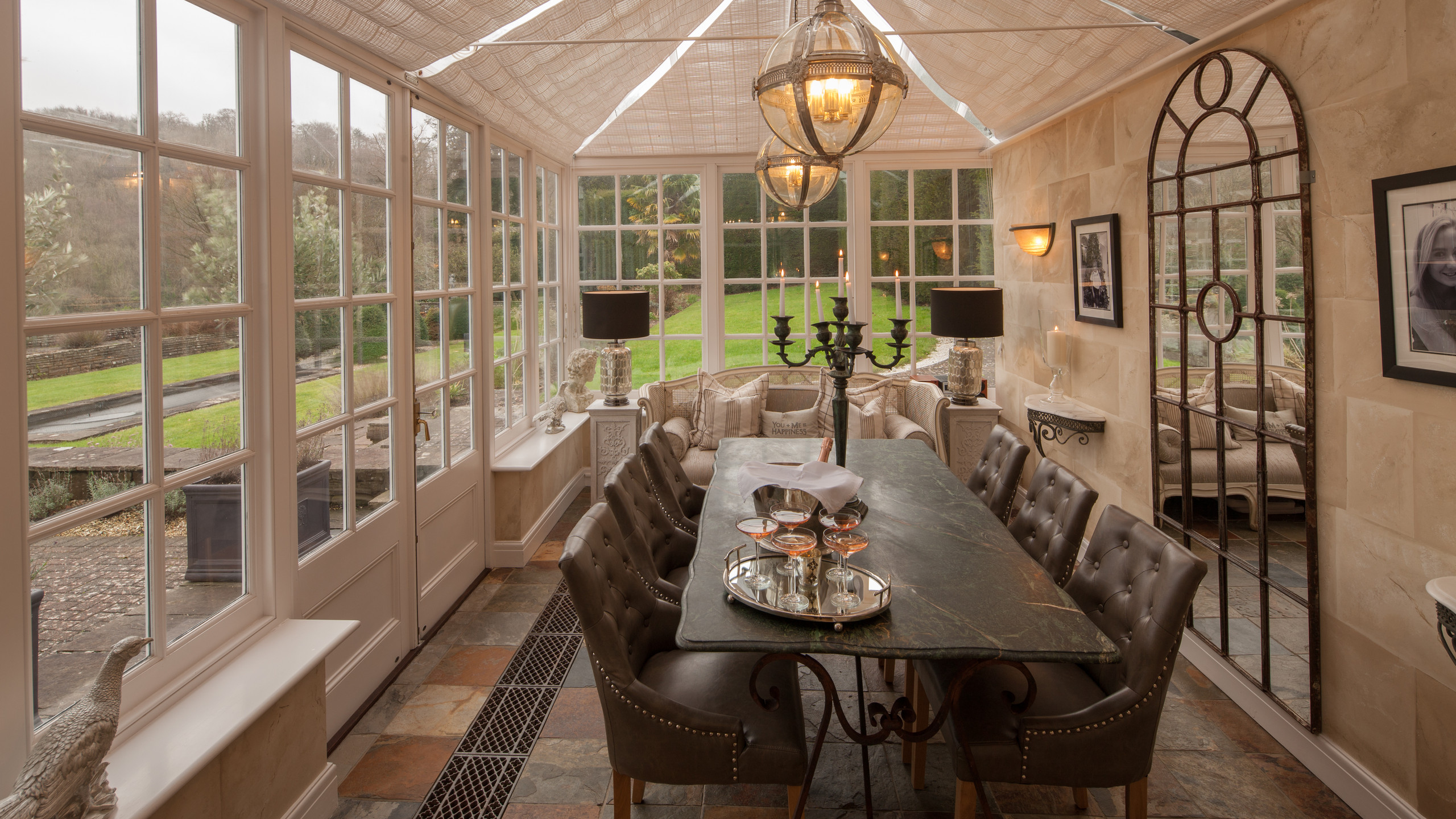 Conservatory, private venue hire South Wales