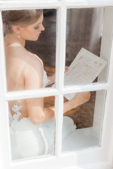 Bride reading vows, Wedding Venue Monmouth