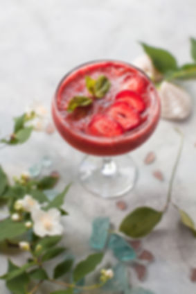 Strawberry cocktail, private event hire South Wales