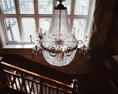 Edwardian style chandelier, luxury event hire South Wales
