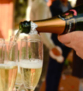 Champagne, luxury event hire Monmouthshire
