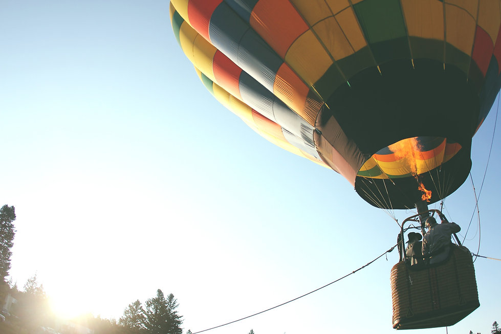 Hot air balloon, venue hire South Wales
