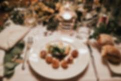 Seared scallops, luxury event hire South Wales