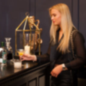 Female drinking cocktail, event hire Monmouth