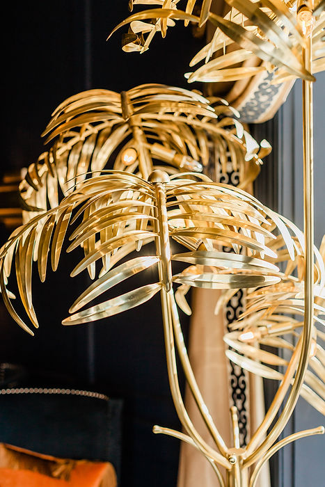 Golden fern orniment, private event hire in Monmouthshire