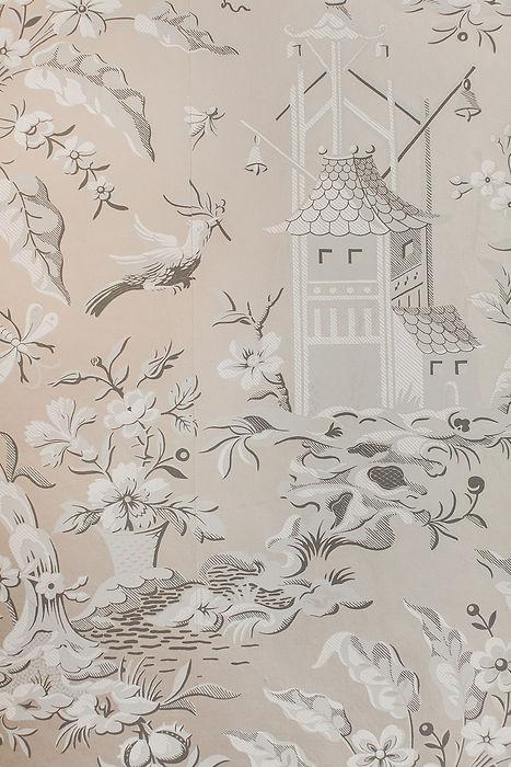 Oriental styled wallpaper, luxury hotel in South Wales