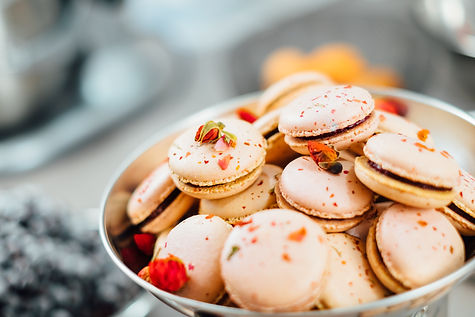 Macaroons, wedding catering South Wales