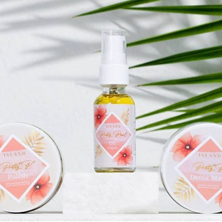 Island Beauty Addict Product Label Design & Prints by us.