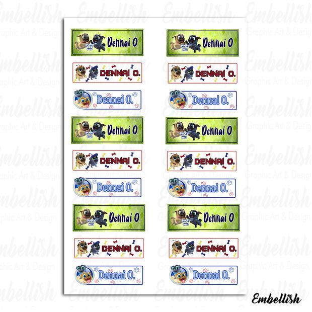 Puppy Dog Pals Labels