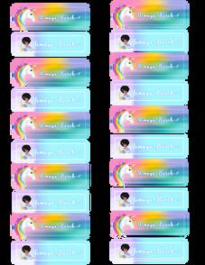 Unicorn & Mermaid Labels
