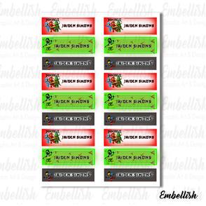 Ninjago Labels