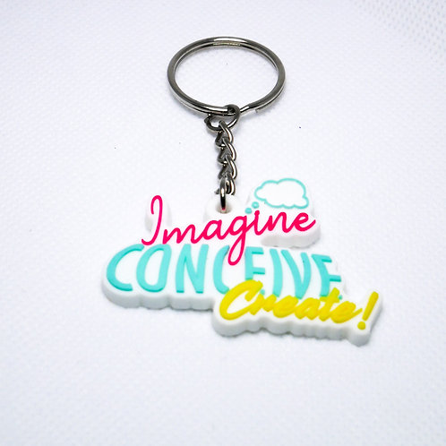 Imagine Conceive Create! Keychain