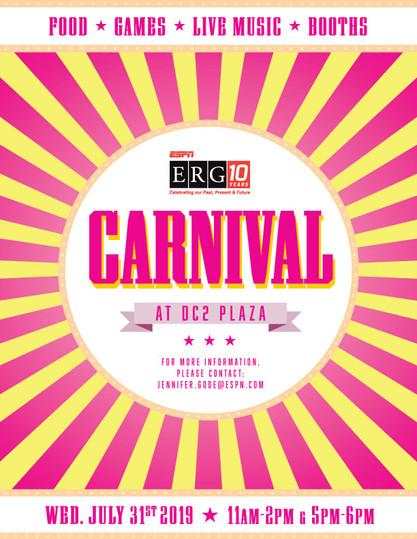 ESPN ERG Carnival Event Poster