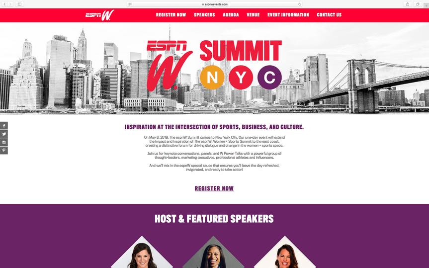 ESPNW Summit NYC Website