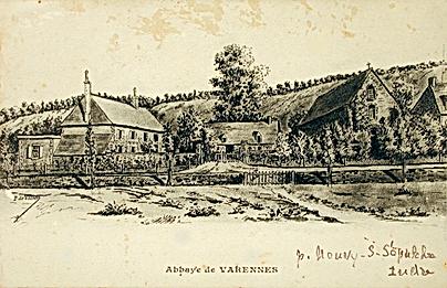 Varennes, carte postale, dessin, 1902.pn
